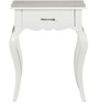Isabella End Table with one Drawer in Paris White Finish by Amberville