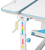 iStudy Height Adjustable Study Table in Blue & White Colour by Alex Daisy