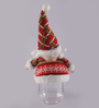 Itiha Multicolour Cloth & Plastic Christmas Santa Candy Jar