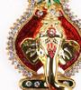 Itiha Multicolour Metal Ganesha Door Hanging on Kalash