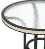 Ivy Glass Top Garden Table by @ Home
