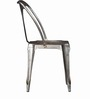 Bowen Metal Chair in Graphite Grey Color by Bohemiana