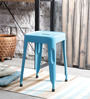Erco Iron Stool in Blue Colour by Bohemiana