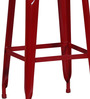 Erco Metal Bar Stool In Red Colour by Bohemiana