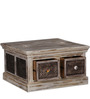 Akon Coffee Table cum Trunk Box in Distress Finish by Bohemiana