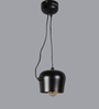 Jainsons Emporio Black and Gold Aluminium Pendant