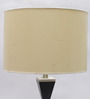Jainsons Emporio Black & Beige Metal & Fabric 17 x 17 x 30 Inch Table Lamp
