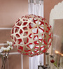 Jainsons Emporio David Trubridge Red & Silver Bamboo Pendant Light