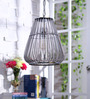 Jainsons Emporio Pamela Industrial Grey Glass Pendant Lamp