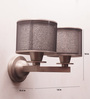 Jainsons Emporio Rosette Upward 2-shade Wall Sconce Lamp
