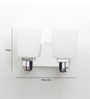 Jainsons Emporio Silver Metal Square Upward Double LED Wall Light