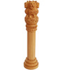 JaipurCrafts Brown Wooden Ashoka Pillar Showpiece