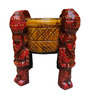 JaipurCrafts Orange & Red Wooden Babla Onkhli Showpiece