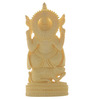 JaipurCrafts White Stoneware Lord Ganesha Sitting on Rat Showpiece