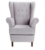 Jalet Wingback Chair in Light Grey Colour by Madesos