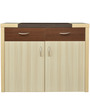 Jardin Credenza Table in Slate Oak & Dark Brown Color by Crystal Furnitech