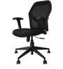 Jazz Medium Back Ergonomic Chair in Black by Starshine