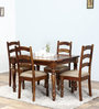 Grafton Four Seater Dining Set in Provincial Teak Finish by Amberville