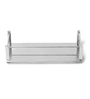 Jest Silver Steel Bathroom Shelf