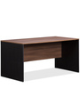 Jewel Table with Side Unit in Acacia Dark with Black Sides and Maple Pad by Debono