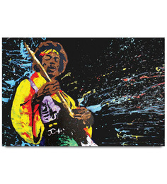 Jimi Hendrix Playing Guitar Poster
