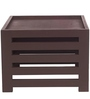 Jinjer Contemporary High Rise Stool in Brown Check Colour by ARRA