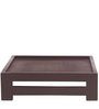 Jinjer Contemporary Low Stool in Brown Check Colour by ARRA