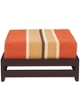 Jinjer Contemporary Low Stool in Rust Lines Colour by ARRA