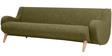 Jordan Three Seater Sofa in Seaweed Green Colour by Madesos