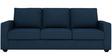 Jordana Three Seater Sofa in Royal Blue Colour by CasaCraft