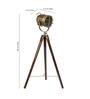 Jodeci Tripod Lamp in Brass by Bohemiana