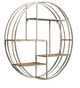 John Round Metal & Wood Display Unit in Grey & Brown Colour by Asian Arts