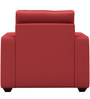 Jordana One Seater Sofa in Cherry Colour by CasaCraft