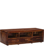 Ontario Large Entertainment Unit in Provincial Teak Finish by Woodsworth