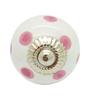 JP Hardware Round Pink Ceramic 1.6 Inch Door Knob - Set of 4