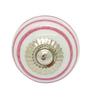 JP Hardware Round Pink Ceramic 1.6 Inch Door Knob - Set of 4