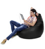 Jumbo SAC Bean Bag (Cover Only) Black Color Colour  by Style Homez