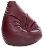 Jumbo SAC Bean Bag Maroon Color Colour with Beans by Style Homez