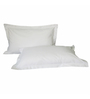 Just Hospitality White Cotton 18 x 27 Pillow Cover - Set of 10