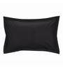 Just Linen Black Cotton 18 x 27 Pillow Cover - Set of 2