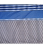 Just Linen Blue and Black Cotton Queen Size Flat Bedsheet - Set of 3