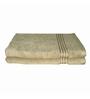 Just Linen Brown Cotton 16 x 24 Hand Towel - Set of 2