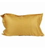 Just Linen Brown Satin 18 x 27 Pillow Cover - Set of 2