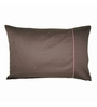 Just Linen Chocolate Cotton 18 x 27 Pillow Cover - Set of 2