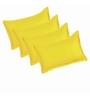 Just Linen Golden Cotton 18 x 27 Pillow Cover - Set of 4