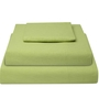 Just Linen Green Cotton Queen Size Flat Bedsheet - Set of 3