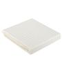 Just Linen Ivory Cotton King Size Flat Bedsheet - Set of 3