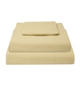 Just Linen Ivory Cotton Queen Size Fitted Bedsheet - Set of 3