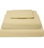 Just Linen Ivory Cotton Queen Size Flat Bedsheet - Set of 3