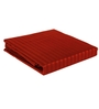 Just Linen Maroon Satin Single Size Flat Bedsheet - Set of 4